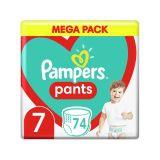 PAMPERS Pants 7 (17 kg+) 74 ks Mega pack - plenkové kalhotky