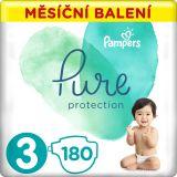 PAMPERS Pure Protection 3 (6-10 kg) 180 ks - jednorázové pleny
