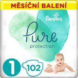 PAMPERS Pure Protection 1 (2-5 kg) 102 ks - jednorázové pleny