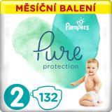 PAMPERS Pure Protection 2 (4-8 kg) 132 ks - jednorázové pleny