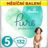 PAMPERS Pure Protection 5 (11-16 kg) 132 ks - jednorázové pleny