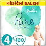 PAMPERS Pure Protection 4 (9-14 kg) 160 ks - jednorázové pleny