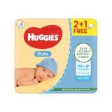 HUGGIES® Vlhčené ubrousky Pure Triplo 56x3 ks