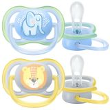 Philips AVENT Šidítko Ultra air Pastel 0-6 m chlapec, 2 ks