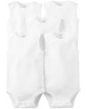 CARTER'S Body bez rukávov White neutrál LBB 5 ks NB/ veľ. 56