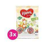3x HAMI Výletní BIO rýžová kolečka hruška a lesní plody 40 g, 6+