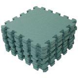BABYDAN Hrací podložka puzzle Dusty Green 90 x 90 cm