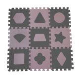 BABYDAN Pěnová hrací podložka puzzle Geometrické tvary, Rose 90 x 90 cm