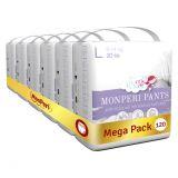 MONPERI Plenkové kalhotky Pants L 8-14 kg Mega Pack