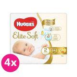 4x HUGGIES Jednorázové plienky Elite Soft veľ. 2, 24 ks