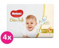 4x HUGGIES Jednorázové pleny Elite Soft vel. 3, 40 ks