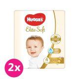 2x HUGGIES Jednorázové pleny Elite Soft vel. 4, 33 ks
