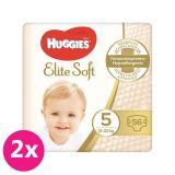 2x HUGGIES Jednorázové pleny Elite Soft vel. 5, 56 ks