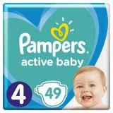 PAMPERS Active Baby jednorázové pleny vel. 4, 49 ks, 9-14 kg