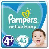 PAMPERS Active Baby jednorázové pleny vel. 4+, 45 ks, 10-15 kg