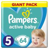 PAMPERS Active Baby jednorázové pleny vel. 5, 64 ks, 11-16 kg