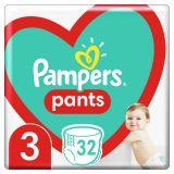 PAMPERS Pants plienkové nohavičky veľ. 3, 32 ks, 6-11 kg