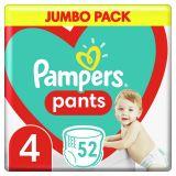 PAMPERS Plenkové kalhotky Pants vel. 4, 52 ks, 9-15 kg