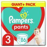 PAMPERS Pants plienkové nohavičky veľ. 3, 86 ks, 6-11 kg