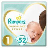 PAMPERS Premium Care jednorázové pleny, vel. 1, 52 ks, 2-5 kg