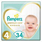 PAMPERS Premium Care jednorázové pleny, vel. 4, 34 ks, 9-14 kg