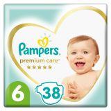 PAMPERS Premium Care jednorázové pleny, vel. 6, 38 ks, 13 kg+