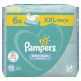 PAMPERS Fresh Clean dětské čisticí ubrousky 6 balení = 480 ks
