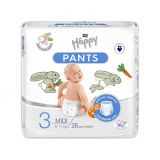 BELLA HAPPY Pants Midi dětské plenkové kalhotky (6-11 kg) 26 ks