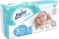 LINTEO BABY Plenky Baby Prémium MIDI (5-9 kg) 54 ks