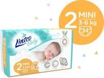 LINTEO BABY Plienky Baby Prémium MINI (3-6 kg) 136 ks