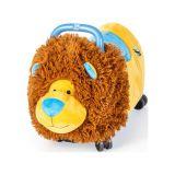TEDDIES Odrážedlo Funny wheels Rider Ride-On lvíček plyšový modrý 12 m+