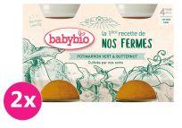 2x BABYBIO Zelená a máslová dýně z naší vlastní ekofarmy 2x130 g