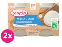 2x BABYBIO Brass z francúzskeho mlieka natur 2x130 g