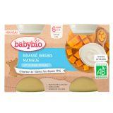 BABYBIO Brassé z ovčieho mlieka mango 2x130 g
