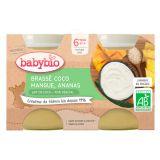 2x BABYBIO Brassé z kokosového mlieka mango ananás 2x130 g