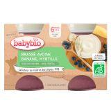 BABYBIO Brassé z ovseného mlieka banán čučoriedka 2x130 g