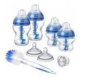 TOMMEE TIPPEE Sada dojčenských fľaštičiek C2N Anti-colic s kefou Blue