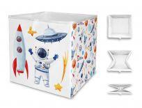 MR. LITTLE FOX Dětská úložná krabice Let's go to space