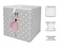 MR. LITTLE FOX Dětská úložná krabice Pink girl