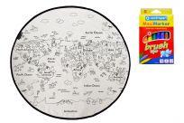 MR. LITTLE FOX Dětský vybarvovací kobereček Colouring world