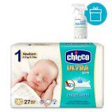 CHICCO Pleny jednorázové Ultra Newborn 2-5kg, 27 ks + AQUAINT 500 ml