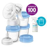 Philips AVENT Odsávačka mateřského mléka Natural s VIA systémem + AQUAINT 500 ml