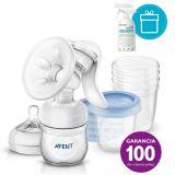 PHILIPS AVENT Odsávačka mlieka Natural + 5 ks VIA 180 ml + AQUAINT 500 ml