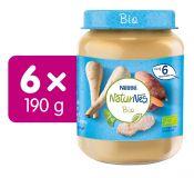 6x NESTLÉ NaturNes BIO Pastinák se sladkými brambory a telecím masem 190 g
