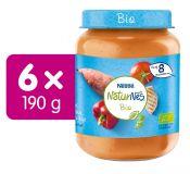 6x NESTLÉ NaturNes BIO Sladké zemiaky s paprikou, rajcinami a kuracím mäsom 190 g