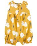 CARTER'S Overal bez rukávů Yellow Floral dívka NB, vel. 56
