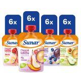 SUNAR Kapsička ovocná kašička XXL mix 24x120 g
