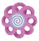 NUBY Kousátko kulička silikonová 3m + růžová