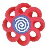 NUBY Hryzačka gulička silikónová 3m+ červená