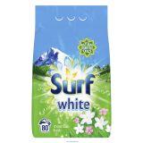 SURF Prášok prác na biele prádlo White Mountain Fresh 80 dávok